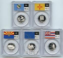 2008 S Silver State Quarter Set PCGS PR70DCAM