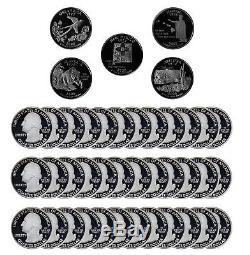 2008 S State Quarter Proof Roll Gem Deep Cameo 90% Silver 40 US Coins