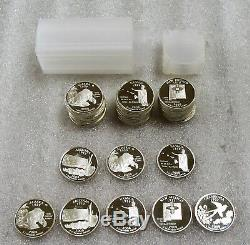2008-S US Silver Proof State Quarters Lot of 38- Coins