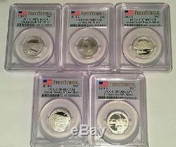 2010-2016 Silver National Parks Quarter Sets Pcgs Pr70dcam