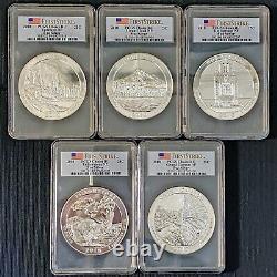 2010 5-Coin 5 oz Silver America The Beautiful ATB Set 25 OZ PCGS Choice BU FS