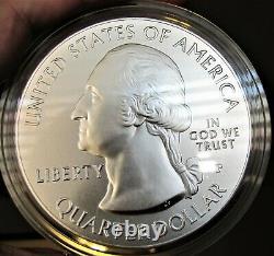 2010 America the Beautiful 5 ounce. 999 Silver Uncirculated Coin, Mint Box & COA