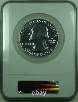 2010 Mount Hood Oregon State 25c Quarter 5 Oz Silver Coin NGC MS-69 Early R