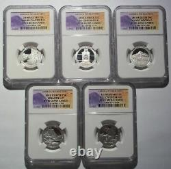 2010 S 5 State Quarters Proof Set NGC PF70 Silver Ultra Cameo National Parks