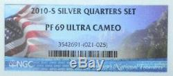 2010-S ATB Silver Proof State Quarter Set NGC PF69 Ultra Cameo