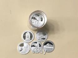 2010 S Silver Quarter Assorted Roll (40) Gem Proof Mirror-like Silver Quarters