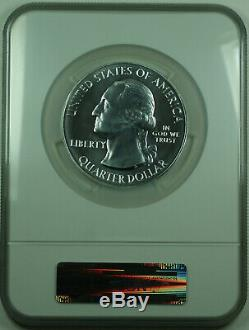 2010 Yellowstone Wyoming State 25c Quarter 5 Oz Silver Coin NGC MS-69 Early R