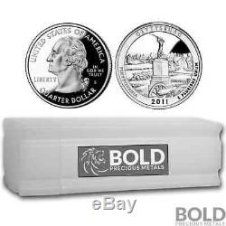 2011-S Silver Proof ATB Quarter Roll (40 Coins) GETTYSBURG