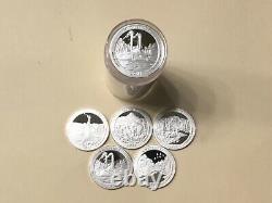 2011 S Silver Quarter Assorted Roll (40) Gem Proof Mirror-like Silver Quarters
