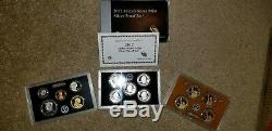 2012 S U. S. Mint Silver PROOF Set, ATB Quarters, Presidential $1 United States
