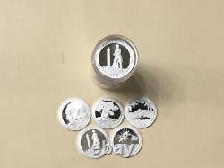 2013 S Silver Quarter Assorted Roll (40) Gem Proof Mirror-like Silver Quarters