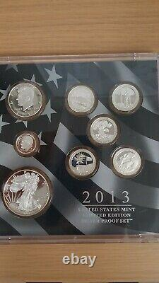 2013 United States Mint Limited Edition Silver Proof Set Priced per Set