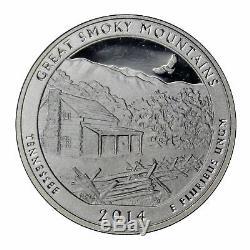 2014 S Parks Quarter ATB Proof Roll Gem Deep Cameo 90% Silver 40 US Coins