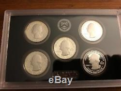 2015 Silver Proof Set United States Mint with Quarters & Presidential Dollars