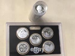 2019 S Silver Quarter Assorted Roll (40) Gem Proof Mirror-like Silver Quarters