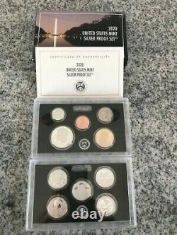 2020 UNITED STATES MINT SILVER PROOF SET with. 999 SILVER ATB QUARTERS