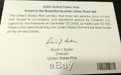 2020 United States Mint America The Beautiful Quarters 5 Coins Pcgspr70dcam