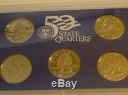 20 Mint Proof Sets with State Quarters! 19 Sets are 90% SILVER 25.42 Ounces