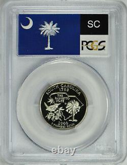 25 2000-S Silver South Carolina State Quarter FLAG PCGS PR70DCA