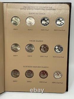 25c Quarter 1999-2009 Washington Statehood Set WithAll Silver Proofs Dansco & DC