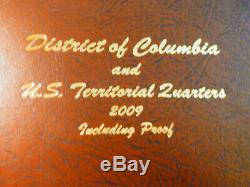264 state & territorial quarters in 3 Dansco albums, P, D, S proof, Silver proof