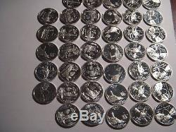 2 Rolls Silver 2001 and 2003 Proof State Quarters Deep Cameo