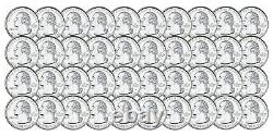 40 Coin Roll of 2005 S Minnesota 90% Silver Proof Quarter 10 Dollar Roll