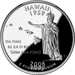 40 Coin Roll of 2008 S Hawaii 90% Silver Proof Quarter 10 Dollar Roll