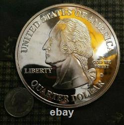 4 Troy Oz. 999 Fine Silver Round Giant 2006 Silver State Quarter Bullion