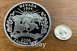 50 States Proof Quarter 4oz Pure Silver National Collector's Mint- Nevada 2006
