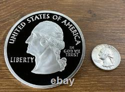 50 States Proof Quarter 4oz Pure Silver National Collector's Mint- Texas 2004
