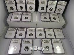 50 States Silver Quarters NGC Ultra Cameo 1999-2008. 45 PF70 Coins. 5 PF69 Coins
