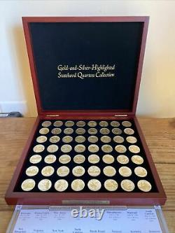 56 Gold-and-Silver-Highlighted Statehood Quarters Collection-Complete Set