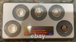 (5) 2008-s Silver State Quarter Set Ngc Pf70 Ultra Cameo Alaska Hawaii Arizona
