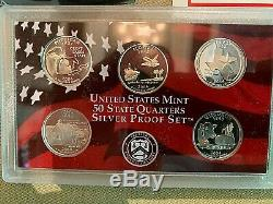 5 sets 2004 Silver Quarter Proof Sets in US Mint Boxes 5 State Silver Quarters