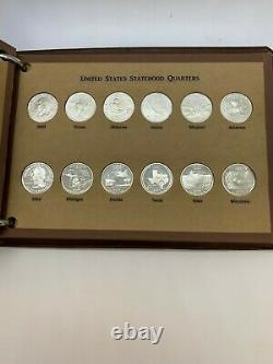 60 Coin 1999-08 90% Silver SH Proof Quarter Set In National Coin Album With Custom