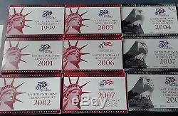 9 Sets Us Mint State Quarters Silver Proof Set With 1999 Key Date Set