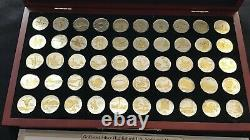 COMPLETE Set 50 Gold-and-Silver-Highlighted Statehood Quarters Collection PCS