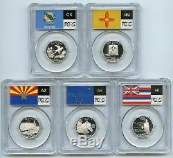 Collection of (1999-2009)50 State & 6 Territories Silver Quarters PCGS PR69DCAM