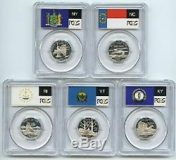 Collection of 50 State & 6 Territories Silver Quarters PCGS PR69DCAM, 1999-2009