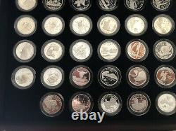 Complete 1999 2009 Silver Proof State & Territories Quarters 25C 56 Coins