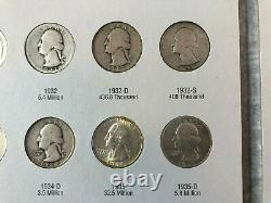 Complete 25C Washington Silver Quarter Collection 30+ Mint State (MS) coins