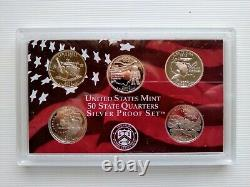 Complete Set of 50 U. S. State Quarters 1999-2008 (90% Silver Proof S Mint)