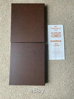 Complete Set of State Quarters BU & Proof Includes Silver Proofs Dansco Album