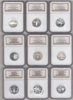 Complete Set (silver) State Quarters (1999 Thru 2008) Graded Proof 69 Uc By Ngc