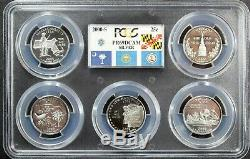 Complete Silver State Quarter Set (1999-2008) PCGS PR69 DCAM