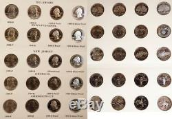 Complete State Quarter Set Including Silver And Clad Proofs 1999 2008