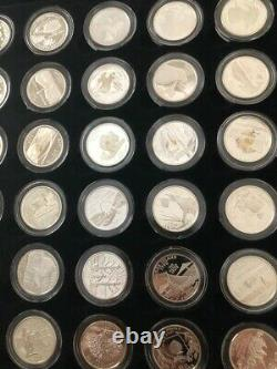 Complete US Territories & State Quarters PROOF Set, 56 silver &56 clad +wood box