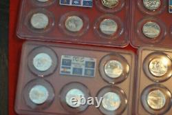 Complete set of silver state quarters in PCGS year holders and graded PR69DCAM