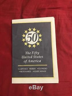 Completed First State Quarters of the United States Collector's Map 1999-2008